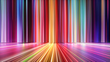 3d Render, Abstract Background With Colorful Spectrum. Bright Neon Rays And Glowing Lines.
