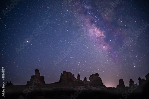 Canvas Milky way at Arches National Park