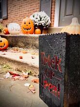 Halloween Pumpkin On A Window