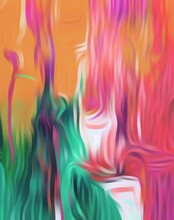 Colors Flowing, Paint Flowing Digitally, Colorful Background Wallpaper Image Background