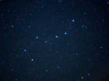 天高く輝く北斗七星【星座線】