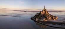 Le Mont-Saint-Michel Frankreich / Normandie Zur Grenze Der Bretagne.