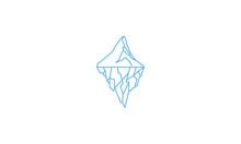 Iceberg Mountain Line Sky Logo Vector Icon Symbol Design Graphic Illustration