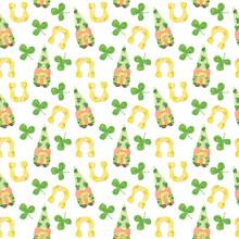 St. Patrick's Day Gnome Seamless Pattern