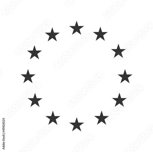 Fototapeta European star flag symbol