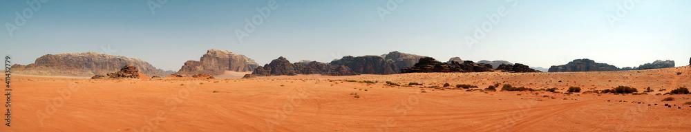 Fototapeta Panoramic View Of Desert Against Sky