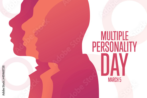 Fototapeta National Multiple Personality Day