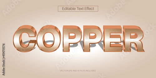 Canvas-taulu Editable Copper Text Effect