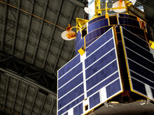 Solar Panels On A Satellite