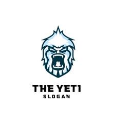 The Yeti Bigfoot Iceman Logo Vector  Icon Illustration Suitable For Esport, Outdoor, Game Logo Design