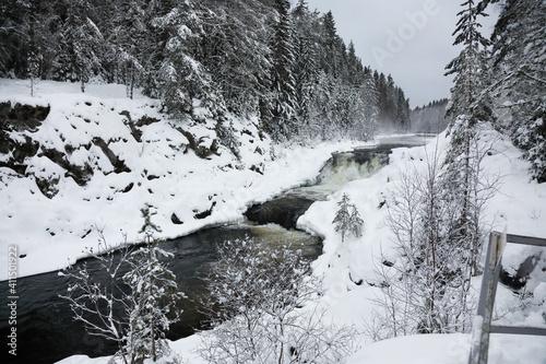 Waterfall Kivach in Karelia, Russia © Alexey Kuznetsov