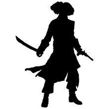 Silhouette Of A Pirate