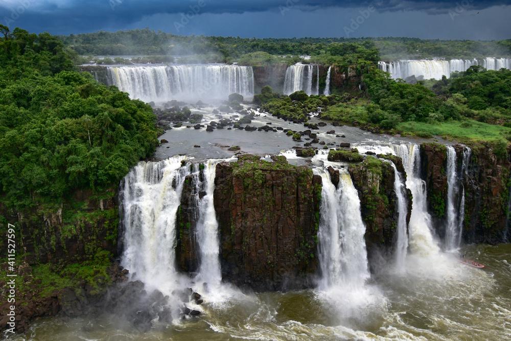 Fototapeta Scenic View Of Waterfall - Cataratas Do Iguaçu