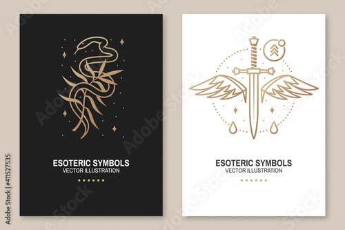 Photo Esoteric symbols, poster, flyer