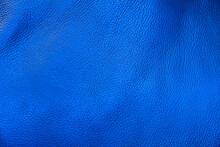 Full Frame Shot Of Blue Leather