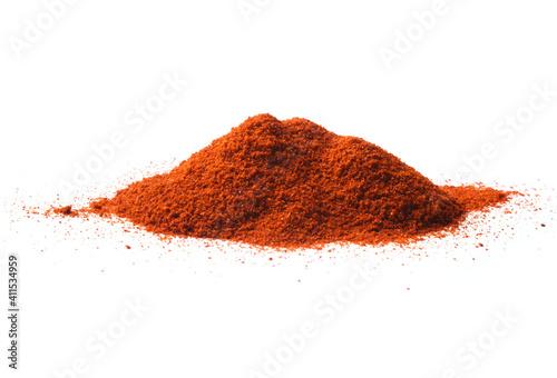 Fototapeta Paprika powder pile isolated on white background