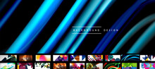 Mega Collection Of Vector Geometric Abstract Wallpaper Backgrounds, Design Templates For Business Or Technology Presentations, Internet Posters Or Web Brochure Covers