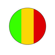 Mali Vector Flag Circle Icon For African Concepts And Themes.