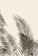 Beżowe liście palm