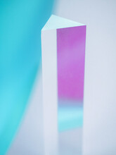 Reflecting Prism With Pastel Colors Background