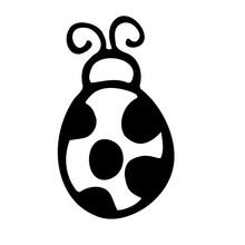 Ladybug Hand Drawn Vector Doodle Illustration. Cartoon Ladybug. Isolated On White Background. Hand Drawn Simple Element