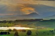 canvas print picture - SUMMER CLOUDSCAPES, southern Drakensberg, Underberg, kwazulu Natal, South Africa
