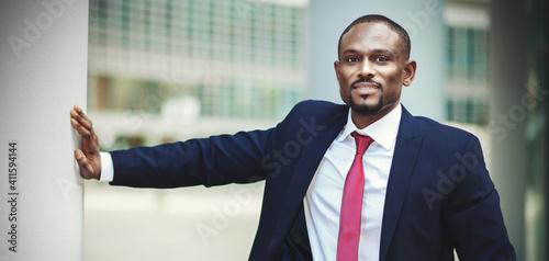 Valokuva Confident black businessman outdoor