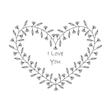 Simple Minimalistic Valentine's Day Greating Card. Wedding Day Invitation. Simple Love And Relations Design Element