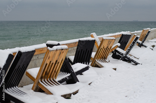 Obraz na plátně Beach chairs
