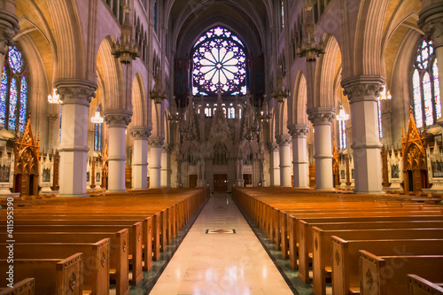 interior of church Fototapet