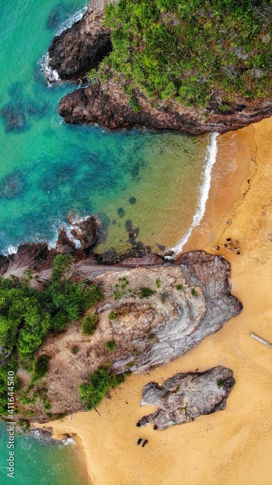 Fototapeta High Angle View Of Rocks On Beach