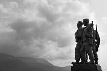 The Commando Memorial In Spean Bridge Lochaber Scottish Highlands Scotland United We Conquer