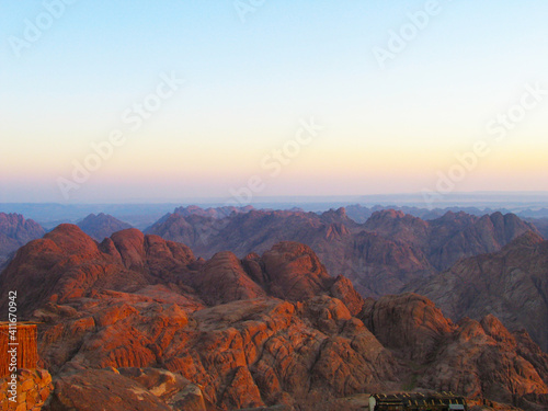 Fototapety, obrazy: Scenic View Of Mountains Against Sky During Sunset