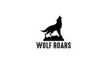Roaring Wolf Logo On White Background