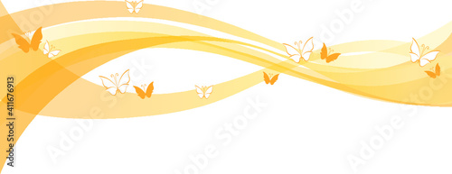 Obraz vector drawing butterfly line wind background design - fototapety do salonu