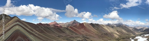 Obraz Panoramic View Of Majestic Mountains Against Sky - fototapety do salonu