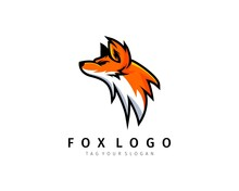 Fox Logo With Mascot Design Vector