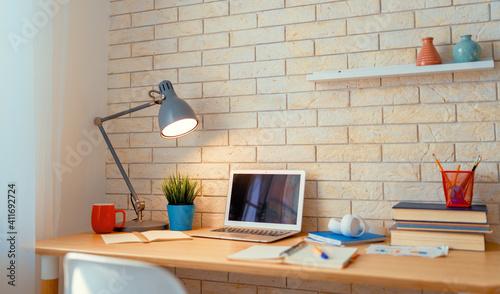 Fototapeta Office workplace with laptop obraz
