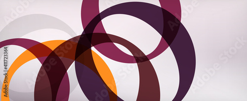 Obraz Ring geometric shapes, o letter repetition wallpaper. Abstract background for business or technology presentations, internet posters or web brochure covers - fototapety do salonu