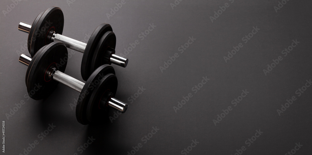 Fototapeta Dumbbells. Sport, fitness and healthy lifestyle