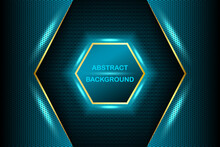 Luxury Bright Blue Lines With Metal Effect Style, Lines With Neon Borders On Dark Background. Vector Illustration