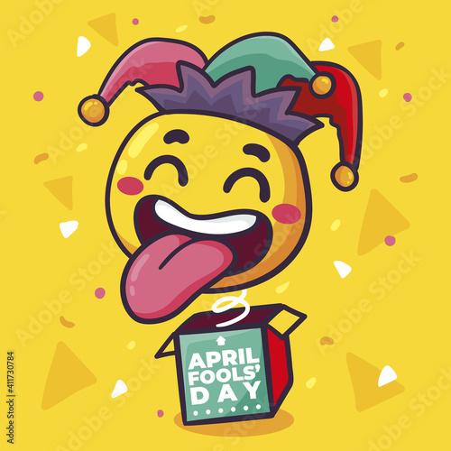 Fotografia, Obraz Hand drawn buffoon april fools day Vector illustration.