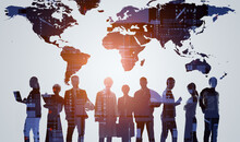 Global Business Concept. Management Strategy. Business Communication. Human Resources.