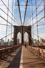 Iconic Brooklyn Bridge, New York City, USA