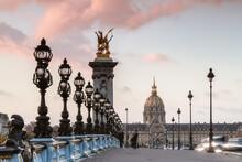 Bridge Alexander III At Sunrise, Paris, France