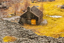 Abandoned Quarry Shed In The Lake District 2550