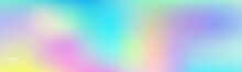Gradation Abstract Color Background, Vector Gradient Bright Pastel With Holographic Iridescent Blend Soft Color