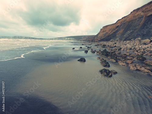 Scenic View Of Beach Against Sky Fotobehang