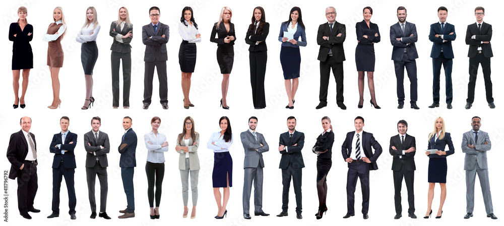 Fototapeta successful business people isolated on white background