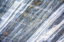 Various Types Of Marble In An Abandoned Quarry In Ruskeala.
